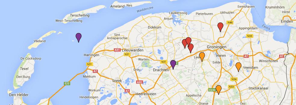 Negen plaatsen voor opslag CO2 in Noord-Nederland